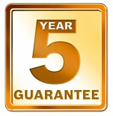 5 year cover warranty