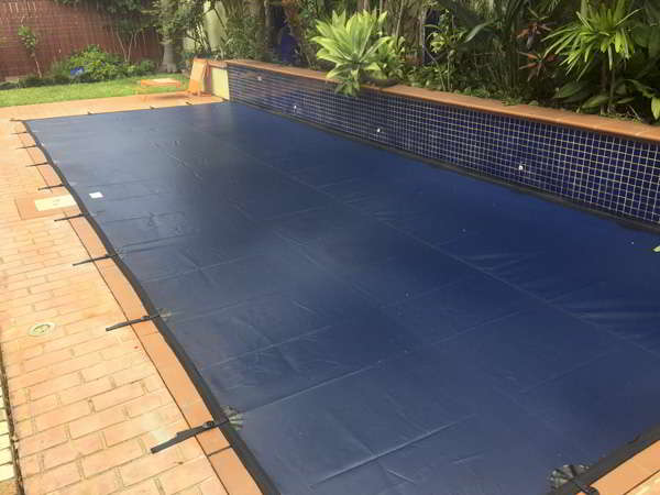 Brisbane Pool Leaf Cover feature wall
