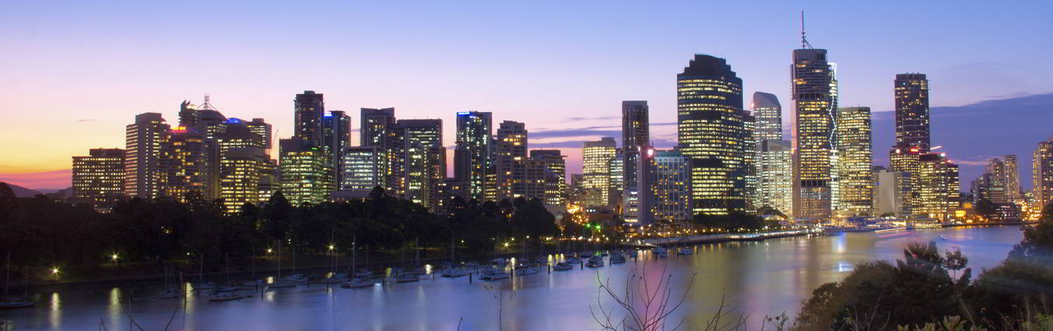 Brisbane twilight skyline