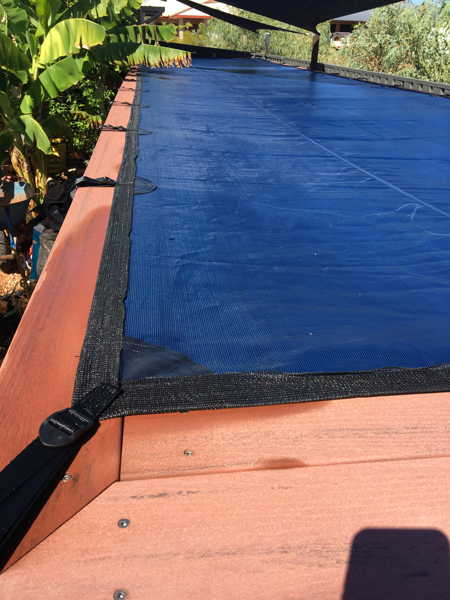 Pool Cover on Shipping Container Pool