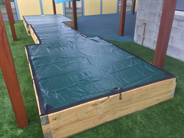 Sandpit Cover elastic attachments