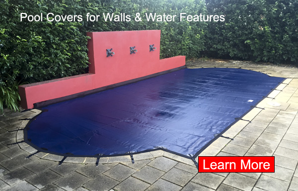 Leaf Cover on Pool with Feature Wall